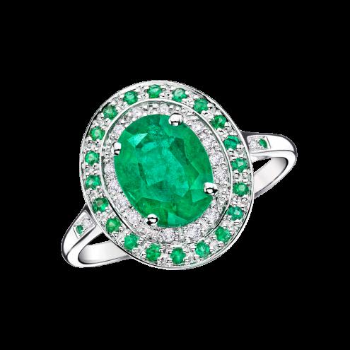 Anello Saint Hilaire de la Mer smeraldo