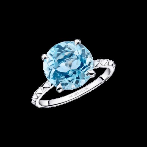Anello Un Arc-en-Ciel d'Amour, topazio blu