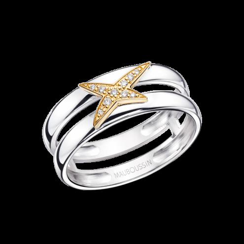 Anello Etoilement D, oro giallo