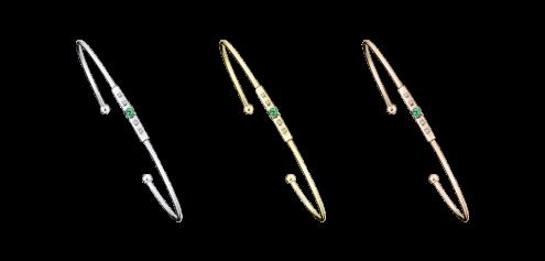 Bracciale rigido Capsule d'Émotions, smeraldo