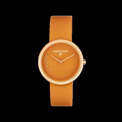 Orologio L'Heure Caramel, colore caramello, tondo