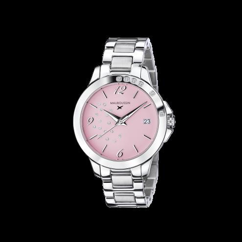 Orologio So Urgent rosa con diamanti