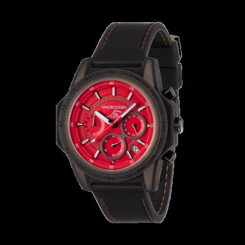 Orologio The Swimmer rosso, silicone